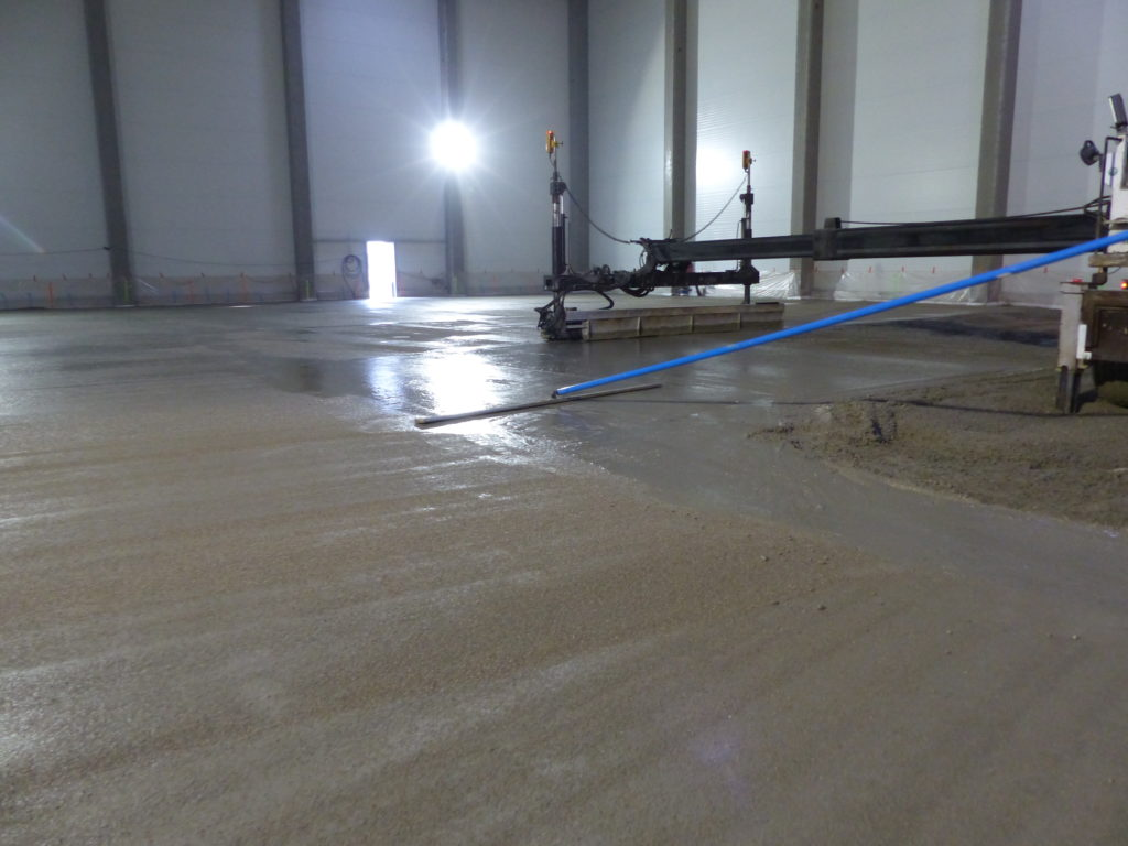 preparing concrete floor surface