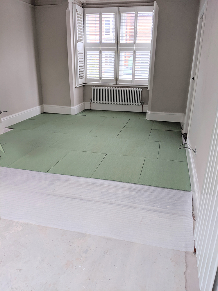 How to lay parquet flooring - underlay