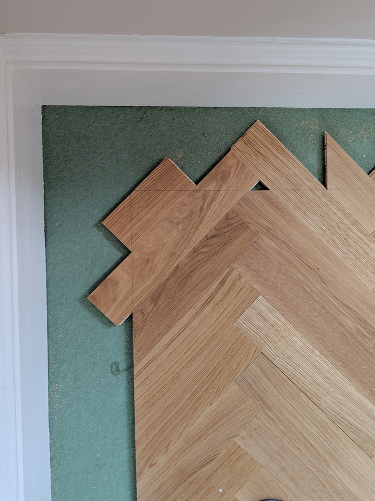 DIY - Creating a border around parquet flooring