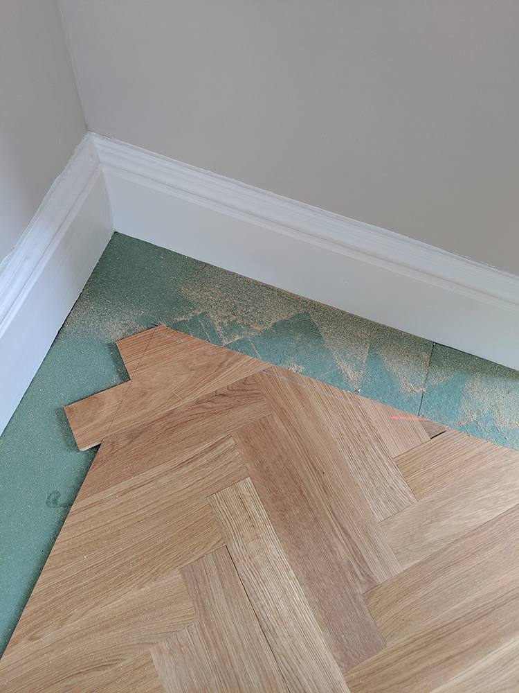 creating a border on parquet flooring